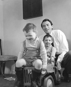 Gregory Peck and his boys