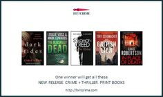 New release crime + thriller print books #giveaway