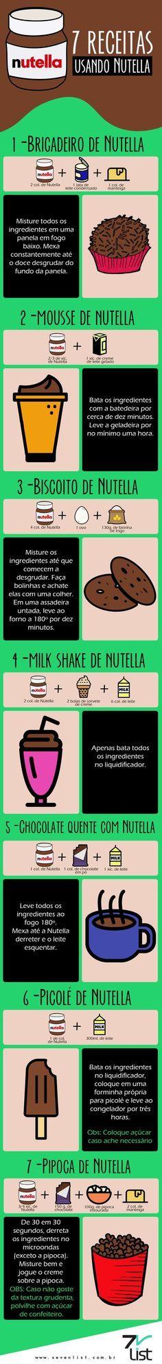 7 receitas com nutella … Mais