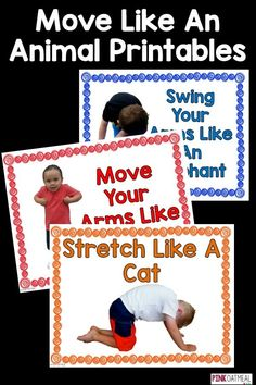 Animal moves are prefect for getting the kids moving.  These are perfect for brain breaks or to use in stations.