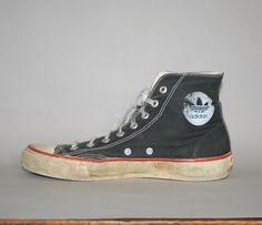 "Rare 80s Adidas ""Chuck Taylor"" style Hi-Tops"
