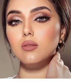 Fab makeup, perfection - beauty make up - Maquillaje Perfect Makeup, Gorgeous Makeup, Pretty Makeup, Glam Makeup, Beauty Makeup, Hair Makeup, Pink Lipstick Makeup, Neutral Eye Makeup, Brunette Makeup