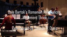 "Davis's modern jazz arrangement of century classical composer Bela Bartok's suite, ""Romanian Folk Dances,"" Movement performed live. Bela Bartok, Maria Schneider, Wayne Shorter, Dance Movement, Folk Dance, Jazz Music, Musicals, Cover, Blanket"