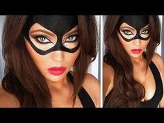 Catwoman Halloween Tutorial - YouTube