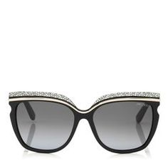 Jimmy Choo - Official Website: Browse the latest collection of designer sunglasses, oversized and aviator and more. Shop for sunglasses now. Oversized Aviator Sunglasses, New Ray Ban Sunglasses, Jimmy Choo Sunglasses, Summer Sunglasses, Sunglasses Accessories, Bag Accessories, Summer Shades, Sunglasses Women Designer, Sunglass Frames