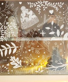 Mon petit buffet de Noël, illustrations au Posca – Les Moustachoux Victorian Christmas, Country Christmas, Winter Christmas, Christmas Holidays, Christmas Crafts, Vintage Christmas, Christmas Window Display, Christmas Window Decorations, Beautiful Christmas Decorations