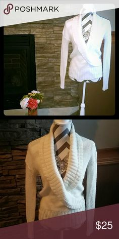 **The Loft** Great shape, off white. Ann Taylor Sweaters