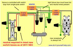 wiring diagram for multiple light fixtures make it with pallets Electrical Room Wiring-Diagram how to add an outlet from a light fixture circuit, and other home wiring projects