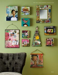 A whole wall of gorgeousness Mixed Media Collage, Collage Art, Kelly Rae Roberts, Frida Art, Found Art, Paint Colors For Living Room, Arte Popular, Art For Art Sake, Simple Art
