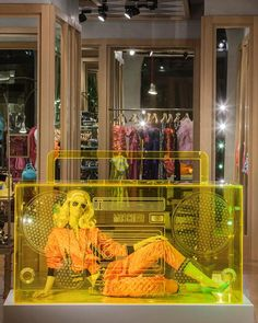 """Moschino boutique in Milan, Via Sant'Andrea 12 - May 2015 window display - Theme: """"Boombox"""""""