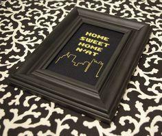 Pittsburgh Cross Stitch Pattern PDF  Home Sweet by stitchburghese, $4.00