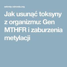 Jak usunąć toksyny z organizmu: Gen MTHFR i zaburzenia metylacji