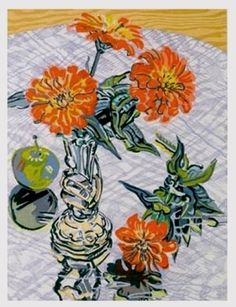 Janet Fish, 'Zinnias and Apples', 1995, contemporary