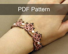 Set of 5 Tatting Lace Patterns от TheKimAndI на Etsy
