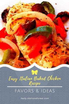 #easydinnerrecipes #italienisches #hühnerrezept #gebackenes #einfaches #ideas #new Einfaches italienisches gebackenes Hühnerrezept - New Ideas - easy-dinner-recipes -You can find Ita... Italian Baked Chicken, Baked Chicken Recipes, Crockpot Recipes, Easy Summer Dinners, Easy Meals, Healthy Dinner Recipes, Vegan Recipes, Ground Beef Recipes, Meals For Two