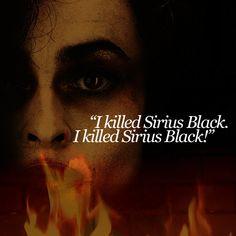 Bellatrix Lestrange-favorite villain from the books, even if she killed my favorite character.