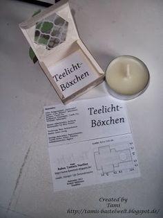 Tamis-Bastelwelt: Anleitungen Teelichtbox tealight box tutorial
