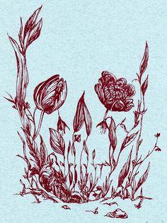 The skull flower garden optical illusion by Isa, from Boston, Massachusetts.