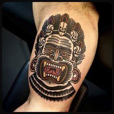 #Tibetan #demon #tattoo #tattoos Done at @sbldnttt