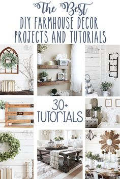Farmhouse DIY Decor Projects For Your Home The best diy farmhouse decor projects for you home! Farmhouse decor and decorating ideas.The best diy farmhouse decor projects for you home! Farmhouse decor and decorating ideas. Diy Home Decor For Apartments, Diy Home Decor Projects, Diy Decorations For Home, Furniture Projects, Sewing Projects, Country Farmhouse Decor, Rustic Decor, Modern Farmhouse, Modern Decor