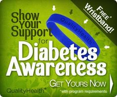Help Support Diabetes - Receive Free Diabetes Awareness Wristband Show Your Support Please Re-Pin And Share With All your friends.