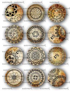 Oriental Henna Mandala Om Mehndi Zen Yoga von MemoriesPictures