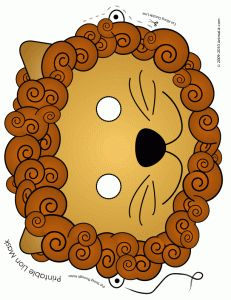 "Cute printable lion mask--perfect for ""Daniel and the lions' den""!"