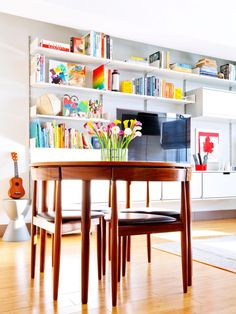 Pretty Calla Lily Centerpiece Sits In This Contemporary White Living