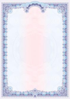 """Бланк со спецэффектом """"Голубой свет"""" и гильоширной сеткой для свободного заполнения.  Универсальный бланк пустой на дизайнерской бумаге Majestic Chameleon  подходит для изготовления бланков, вклеек и вкладышей, а также сертификатов, свидетельств, грамот, благодарственных или поздравительных писем, бланков с фирменным стилем, символикой и т.д. Сочетание синих и голубых тонов макета бланка идеально гармонируют с лазурным переливом дизайнерской бумаги.  Бланк изготовлен на высококачественной… Handbill Design, Wallpaper Powerpoint, Certificate Background, Frame Border Design, Pyrography Patterns, Geometric Poster, Certificate Design, Spirograph, Baby Sewing Projects"""