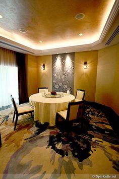 I love the carpet in this room.    Wah Lok Cantonese Restaurant at Carlton Hotel, Singapore