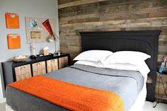 Image result for orange and grey bedroom