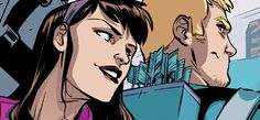 Clint Barton & Kate Bishop Hawkeye squared