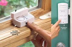 Inexpensive Ways to Theft-Proof Your Home: Add Inexpensive Door and Window Alarms. Get all 13 Tips: http://www.familyhandyman.com/home-security/inexpensive-ways-to-theft-proof-your-home?pmcode=pin110114f