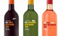 MIA Fruit Wine Packaging Tempts You With References to Traveling #wine #bottles trendhunter.com