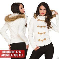 Geaca Winter White  >> Click pe poza pentru a intra pe site.  #VinereaNeagra #BlackFriday #Reduceri #fashion #BlackFridayFashion #ReduceriBlackFriday Winter White, Black Friday, Cape, Mantle, Cabo, Capes, Cloak