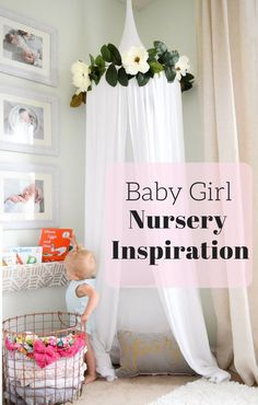 Baby Nursery Ideas and Inspiration // Reading Nook for Toddlers // Floral Baby Nursery // Toddler Room Inspiration // Baby Girl Nursery // Chic and Floral Nursery // Spinach White Sherwin Williams //