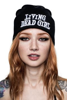 HIGH ALERT - This collection is NEW! Lead yer very own black parade and be one of the first to wear the newest collection from KILLSTAR. Beanie Outfit, Girl Beanie, Beanie Hats, Beanies, Metal Fashion, Gothic Fashion, Steampunk Fashion, Emily The Strange, Goth Hair