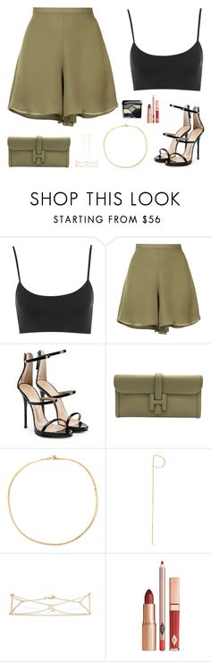 """Untitled #5171"" by mdmsb on Polyvore featuring Sally Lapointe, Giuseppe Zanotti, Hermès, Loren Stewart and Christian Dior"