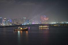 incredible view Dubai Marina by night