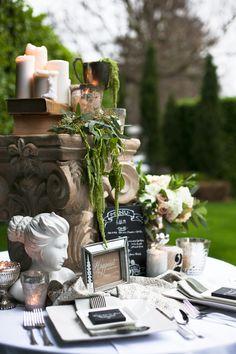This elaborate table setting is perfect for a vintage, formal affair. #vintageweddings #weddingdecor
