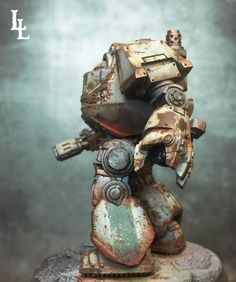 Painting the Legions Death Guard Contemptor Dreadnought Tutorial ~ LilLegend Commission Painting Studio