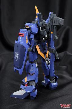 MODELER: ALWEN99 MODEL TITLE: N/A MODIFICATION TYPE: custom paint job, custom details, conversion build KITS USED: RG 1/144 Gundam Mk-II...
