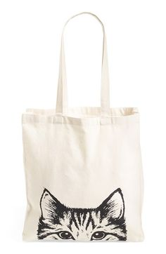 Free shipping and returns on Tri-Coastal Design 'Cat Face' Canvas Tote at Nordstrom.com. An adorable kitty face peers out at passersbyon this durable canvas bag that's perfect for toting around used-book finds, farmer's market goodies and festival essentials.