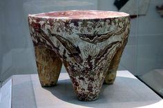 "Offering Table with dolphins"", Akrotiri, Mature Late Cycladic I Period (17th B.C.) cut from pumice"