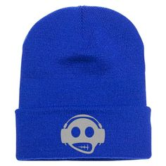 Headphone Embroidered Knit Cap
