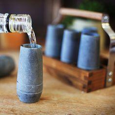 Vodka Shooter Set + Ash Caddy (Set of 4)