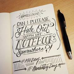 26th Creativity Challenge: Handwriting Day 2015 - Hideout