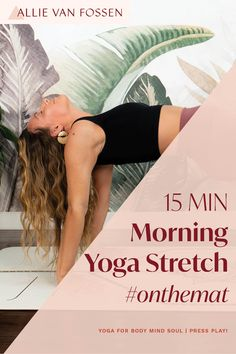 Begin your day with a full body morning yoga stretch to awaken and enliven your body, mind & soul in just 15 freakin' minutes! This yoga sequence cares for your whole body by moving through postures that energize and awaken each chakra and finishing with surya bhedana pranayam to create an intention for your day. Unroll your mat this morning to create an intention for a fulfilling and energized day! Allie, xx #morningyoga #15minyoga #fullbodyyoga #allievanfossen Beginner Yoga Workout, Yoga Workouts, Yoga Inversions, Vinyasa Yoga, Morning Yoga Stretches, Free Yoga Classes, Yoga Routine For Beginners, Gentle Yoga, Advanced Yoga