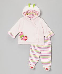 This Pink & Lime Caterpillar Plush Jacket & Footie Pants - Infant by The World of Eric Carle is perfect! #zulilyfinds