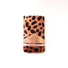 Mobile iPhone 5 Leather Case // Leopard Calf Hair by gmaloudesigns